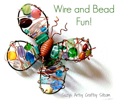 bead and wire crafts diy wire and bead butterfly magnet