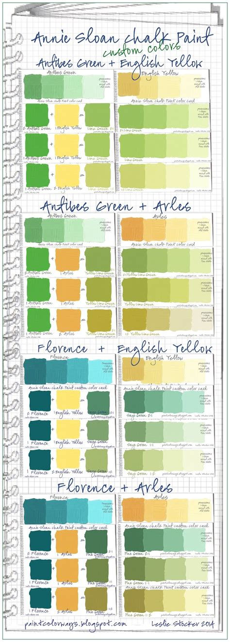 chalk paint mixed colors colorways sloan chalk paint green custom color swatches