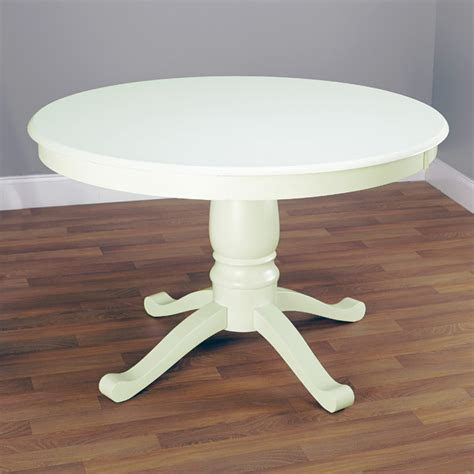 white pedestal dining table simple living antique white pedestal dining