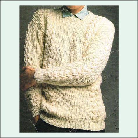 fisherman sweater knitting patterns s knitting pattern fishermans rib sweater with cables