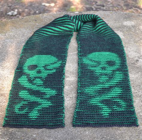 skull scarf knitting pattern pirate and other skull motif knitting patterns in