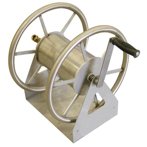 metal garden hose reel wall mount shop liberty garden products steel 5 ft wall mount hose