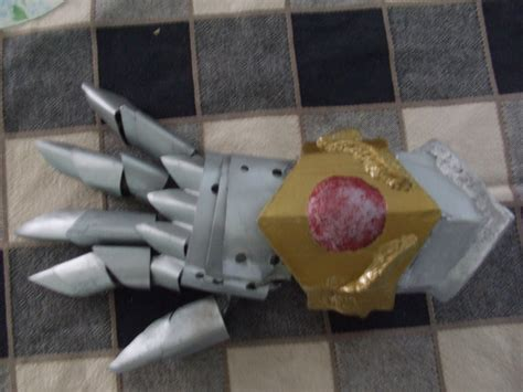 scrap metal armor gauntlet by thunderdaisaku on deviantart