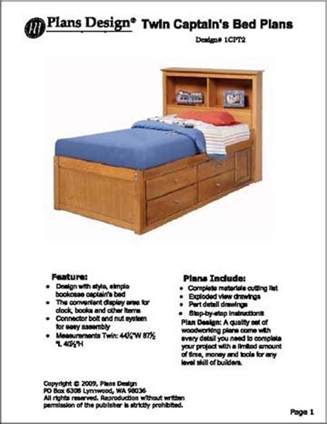 captains bed woodworking plans woodworking plans captains bed free