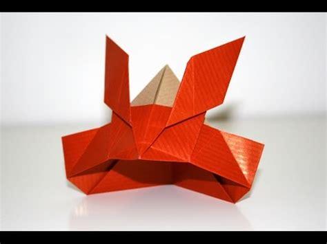 how to make an origami samurai helmet origami casque de samourai samurai helmet senbazuru