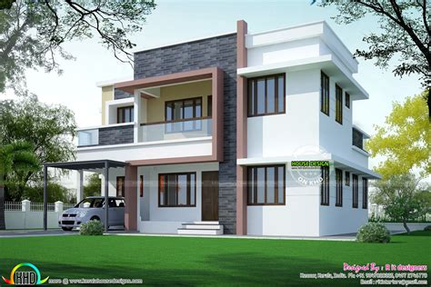 simple home design gallery simple home plan in modern style kerala home design and