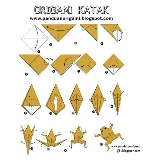Panduan Membuat Origami Katak Lucu Panduan Belajar