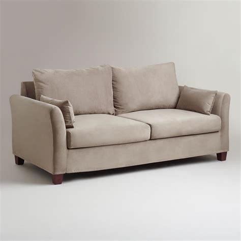 velvet sofa slipcovers gray mink velvet luxe sofa slipcover world market