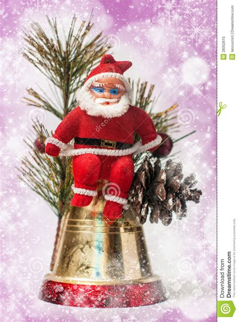 santa decorations decoration with santa claus royalty free stock