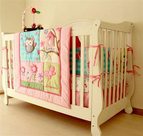owl bedding sets for cribs aliexpress buy owl print baby crib bedding set