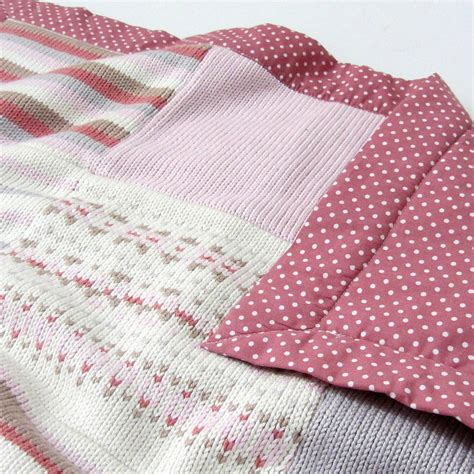 pink knitted blanket pink fairisle knitted baby blanket by smitten