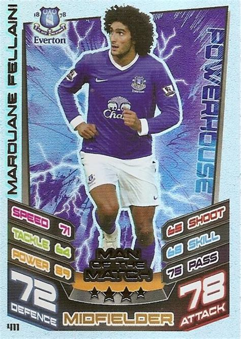 match attax make your own card trading cards match attax 2012 2013 marouane fellaini