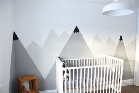 Wall Mural Paint how to paint a diy mountain mural no art skills required