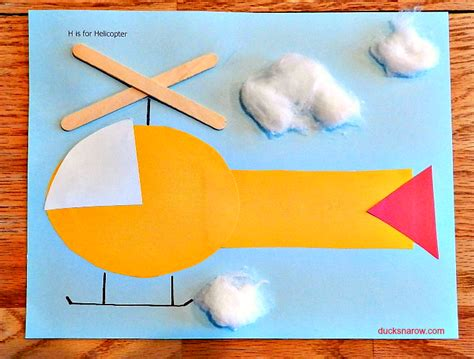helicopter craft for h is for helicopter preschool craft ducks n a row