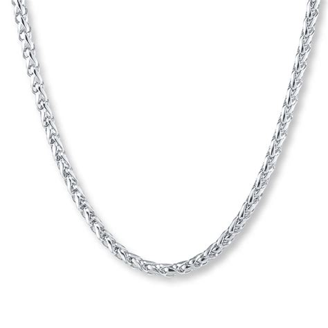chain for jewelry s wheat chain stainless steel necklace 24 quot length