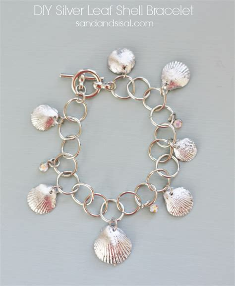 how to make jewelry with shells diy silver leaf shell bracelet sand and sisal