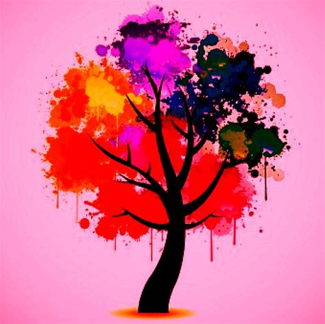 colorful tree colorful tree