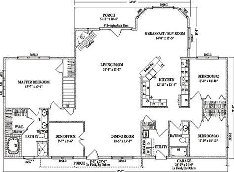 open concept ranch floor plans alexandria iii by wardcraft homes ranch floorplan