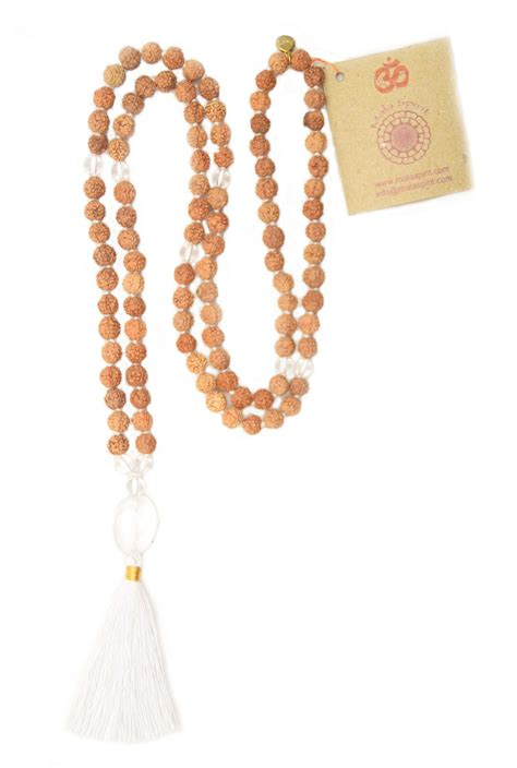how many in a mala necklace clarity mala necklace with rudraksha mala and