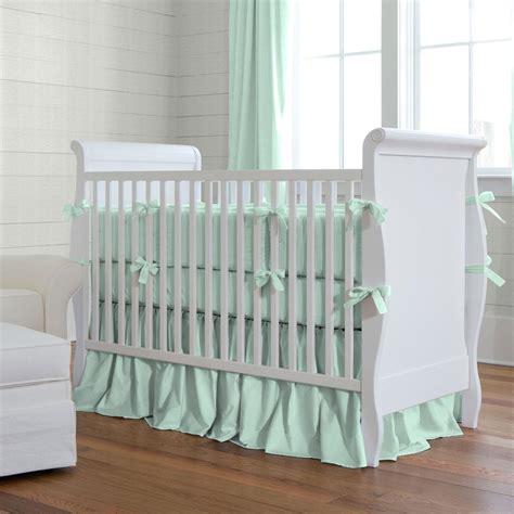 solid mint crib bedding crib bedding carousel designs