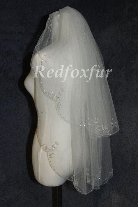 beaded wedding veil 2t bridal veil beaded wedding veils bridal veil