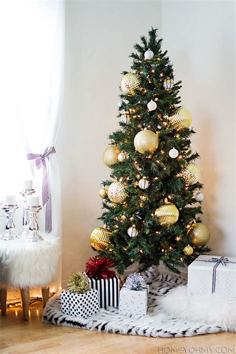 tree with big ornaments gold tree homey oh my