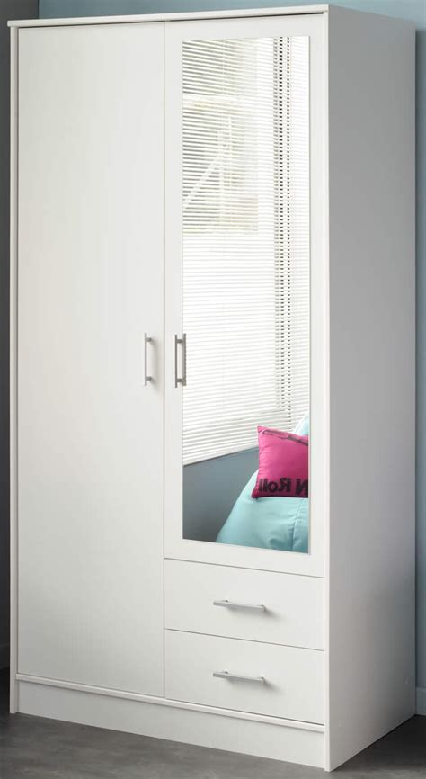 Dining Room Chairs Discount parisot infinity double wardrobe in white with mirror