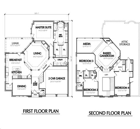 two storey residential building floor plan 2 storey house plan with measurement design design a