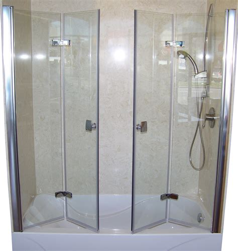 bi fold shower door frameless patented bi fold shower door gus designer products