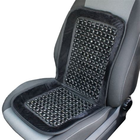 beaded car seat cover black wooden bead beaded massaging front seat cover