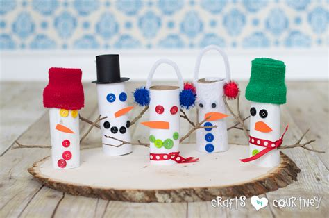 snowman toilet paper roll craft toilet paper roll snowmen family crafts