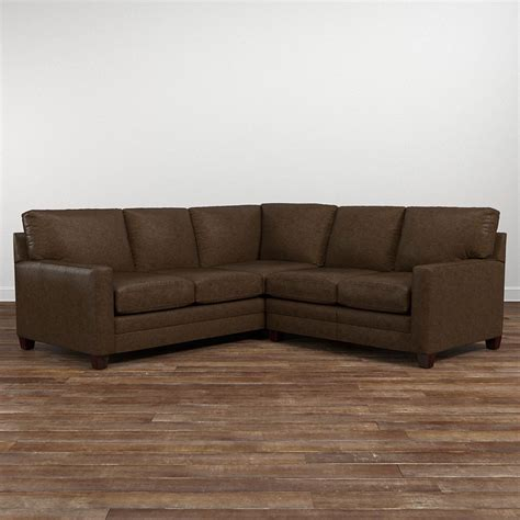 leather l shaped sectional sofa cocoa small leather l shaped sectional