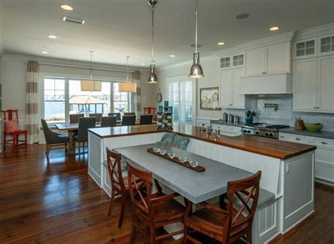 kitchen island with table attached beautiful kitchen islands with bench seating designing idea
