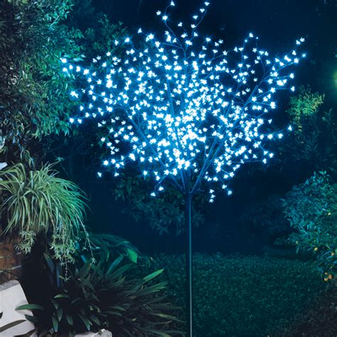 bunnings trees lytworx 2 5m 600 blue led light up blossom tree bunnings