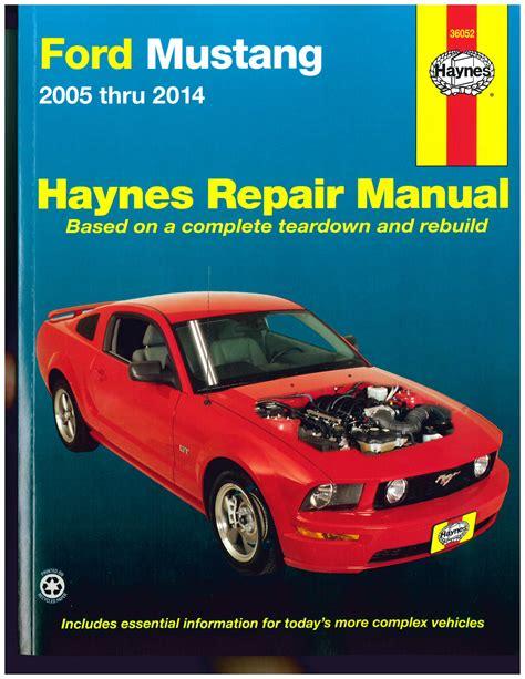 ford mustang 2005 2014 haynes automotive repair manual