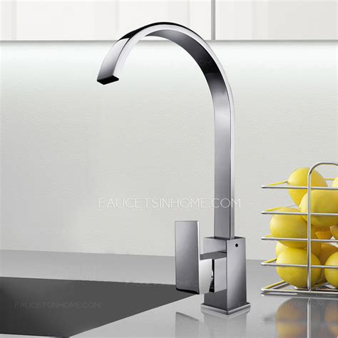 kitchen faucets high end high end waterfall single handle gooseneck kitchen faucets