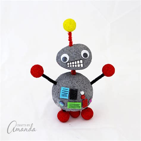 craft projects for robot craft robot craft styrofoam pipe cleaners