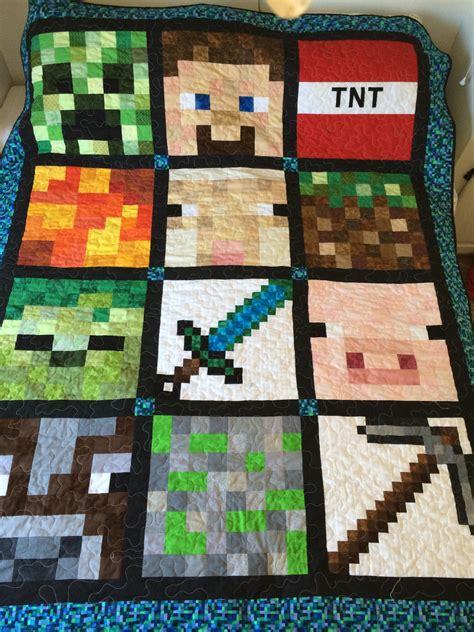 minecraft crafts for minecraft quilt on minecraft blanket boys