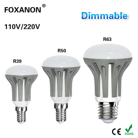 dimmable led light foxanon dimmable led e27 e14 light 3w 5w 7w 220v 110v led