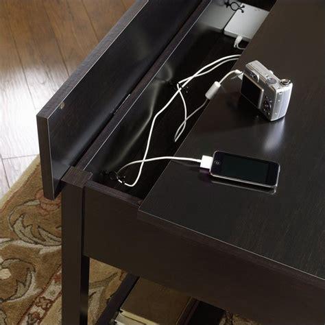 edgewater computer desk mobile lifestyle writing desk in estate black 409045