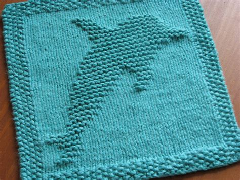 free dolphin knitting pattern one crafty dolphin dishcloth
