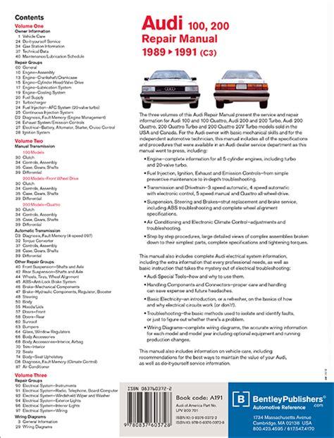 service manual free download 1989 audi 200 service manual audi 100 200 1989 1990 1991 manual