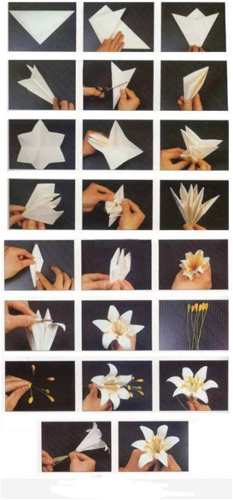 diy paper crafts tutorials how to fold origami paper craft blooming flowers step