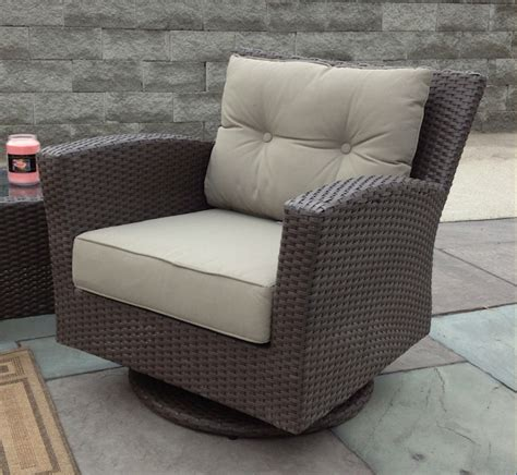 swivel chairs outdoor outdoor wicker swivel chair sonoma