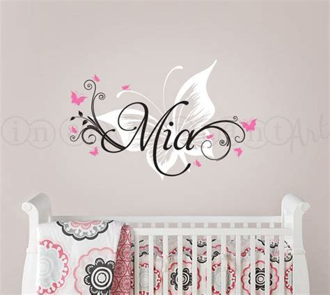 wall sticker names butterfly and custom name wall decal butterfly nursery
