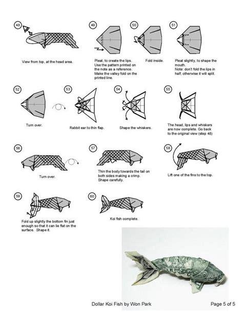 origami dollar koi fish koi fish diagram 5 of 5 money origami dollar bill