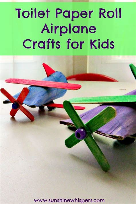 paper airplane craft toilet paper roll airplane crafts for