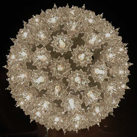 starlight spheres lights 7 5 quot starlight sphere 100 light silver lighted