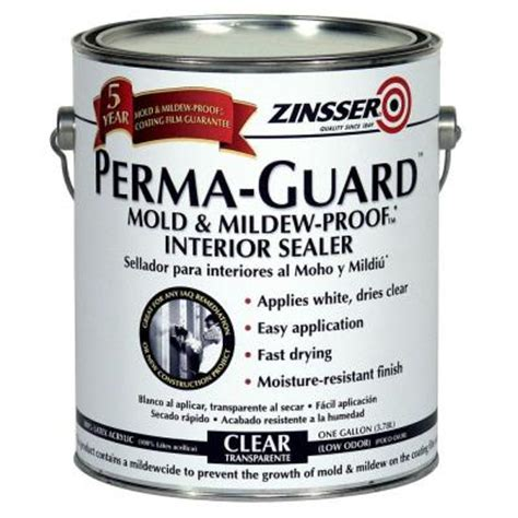 home depot paint guard zinsser 1 gal perma guard mold and mildew proof acrylic