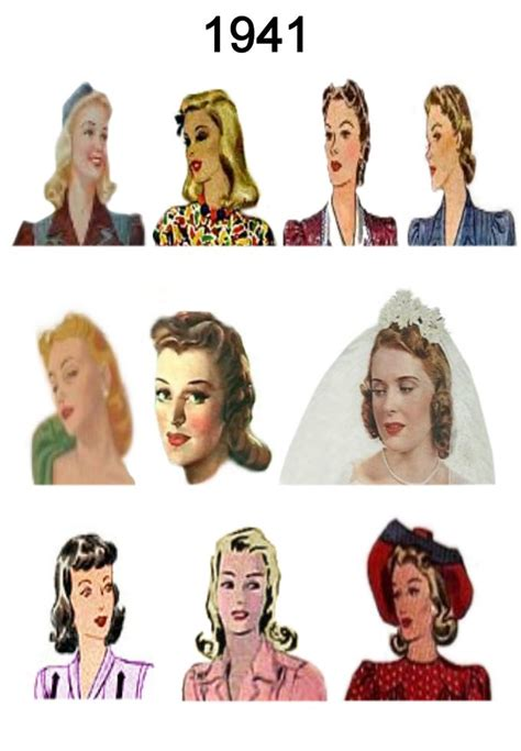 hairstyle facts from the 1940 s 1940 1945 pictures of hairstyles and hats in 1940s fashion